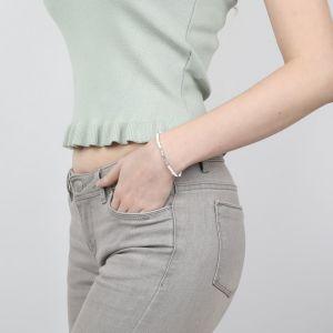 COMPLICES-HEISHI bracelet blanc fermoir bouton nacre