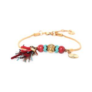ANITA thin bracelet w/ tassel