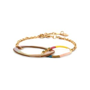 MELLY inter-link oval bracelet