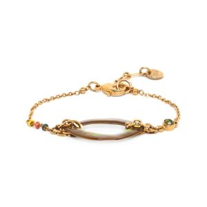 MELLY brownlip oval bracelet