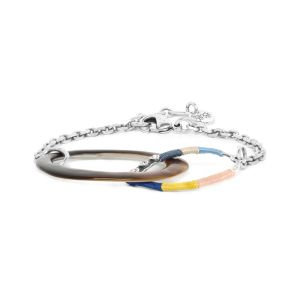 LISELLE bracelet chaine 2 anneaux entrelacés