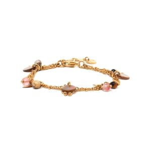 LAURETTE 3 row chain bracelet
