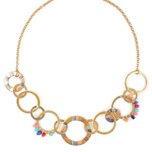 CLARISSE inter-link ring necklace