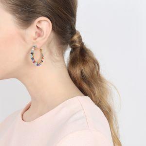 CLARISSE boucles créoles perles tissées