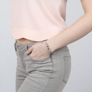 CLARISSE bracelet jonc perlés