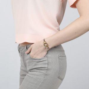 CLARISSE bracelet chaine 3 anneaux
