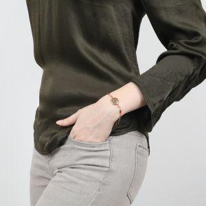 ANITA round disc bracelet