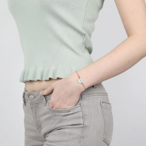 CAPUCINE bracelet fin fermoir mousqueton