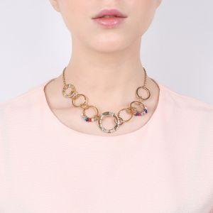 CLARISSE collier anneaux entrelacés