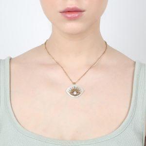 "IRIS  ""eye shape"" pendant necklace"