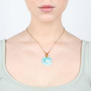 CAPUCINE collier pendentif Nacre émaillée