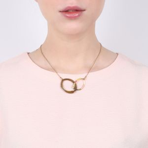 MELLY inter-link oval necklace