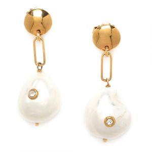 CONSTANCE boucles poussoir grosse perle
