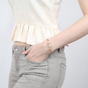 CONSTANCE bracelet fin fermoir mousqueton