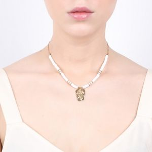 CONSTANCE chain + heishi necklace
