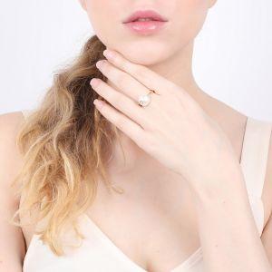 CONSTANCE bague ajustable perle