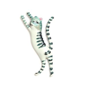 SONIA CAVALLINI enameled cat pins