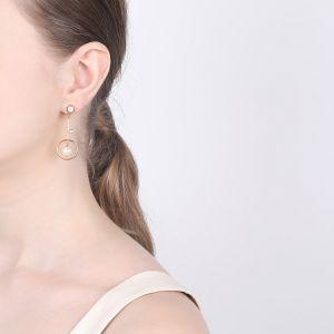 LES INSEPARABLESLES -ASTRE boucles poussoir perle et nacre blanche