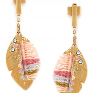INSEPARABLES-PLUME feather post ER(peach)