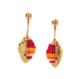 INSEPARABLES-PLUME feather post ER(red)