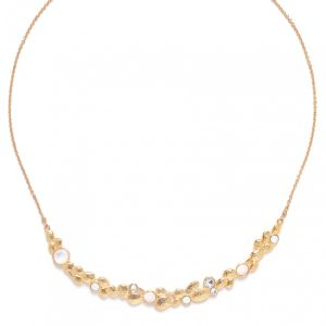 BECKY arc short necklace(white)