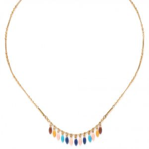 SACHA rice bead dangle necklace