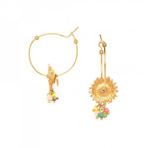 FELICIE sunflower creoles with beads