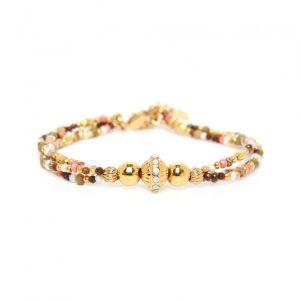 TAMARA  bracelet 3 rangs fermoir mousqueton