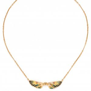 LILYBELLE 2 wings necklace(Jaune)