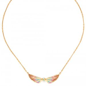 LILYBELLE  collier 2 ailes Rose
