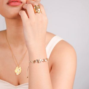 BECKY tube lock bracelet(white)