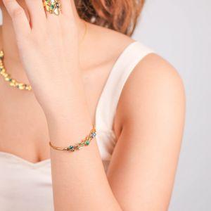 BECKY  bracelet jonc Malachite