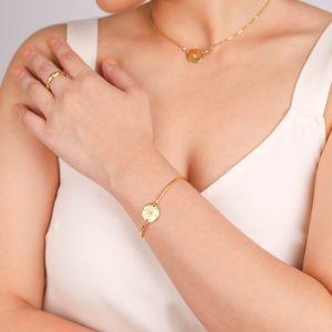 CELESTE  bracelet semi rigide pastille «oeil»