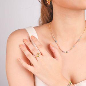 CAMILY bague ajustable mini perles