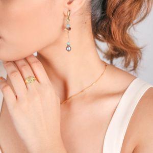 MARTA  boucles d'oreilles poussoir tige et perle
