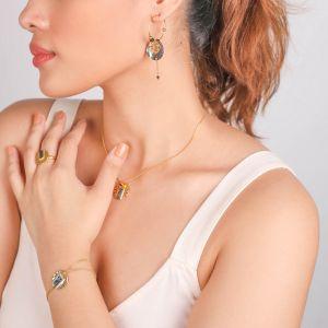 DANNA  boucles d'oreilles créoles Abalone