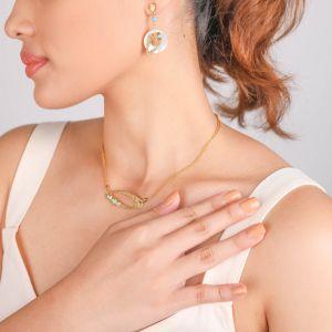 INES  boucles d'oreilles poussoir double anneau