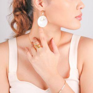 INES  boucles d'oreilles poussoir grand modèle