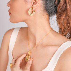 FELICIE boucles d'oreilles créoles en rotin