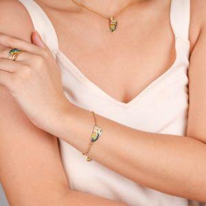 LILYBELLE  bracelet petite aile Jaune
