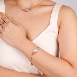 LILYBELLE articulated bracelet(Jaune)