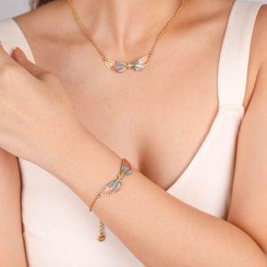LILYBELLE  bracelet 2 ailes Rose