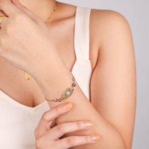 MARTA  bracelet médaillon fermoir mouqsueton