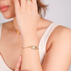 MARTA bracelet semi-rigide doré à l'or fin