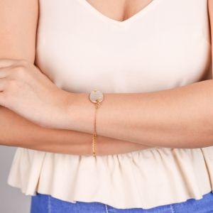 CORALIE  bracelet Nacre fermoir mousqueton