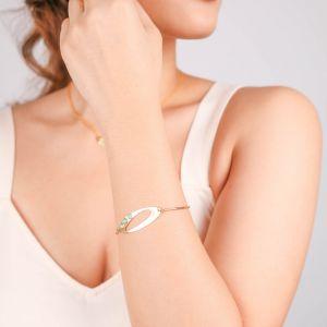 INES  bracelet semi-rigide doré à l'or fin