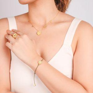 FELICIE  bracelet macramé mini tournesol