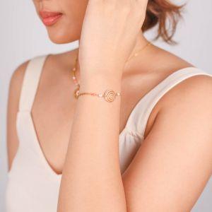 TAMARA  bracelet chaine petit coquillage spirale
