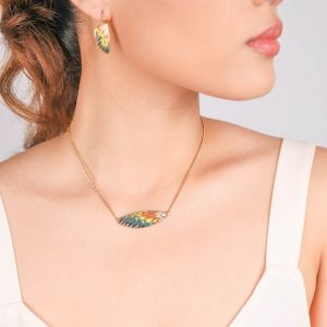 LILYBELLE single wing necklace(Jaune)
