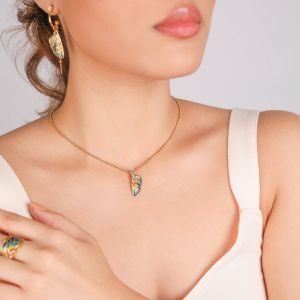LILYBELLE  collier pendentif aile Jaune